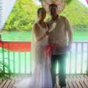 Del Carmen Lagoon Wedding!<br /><br />Courtesy Trini Morriss