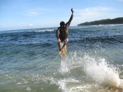 local skim buddies, San Isidro, Siargao